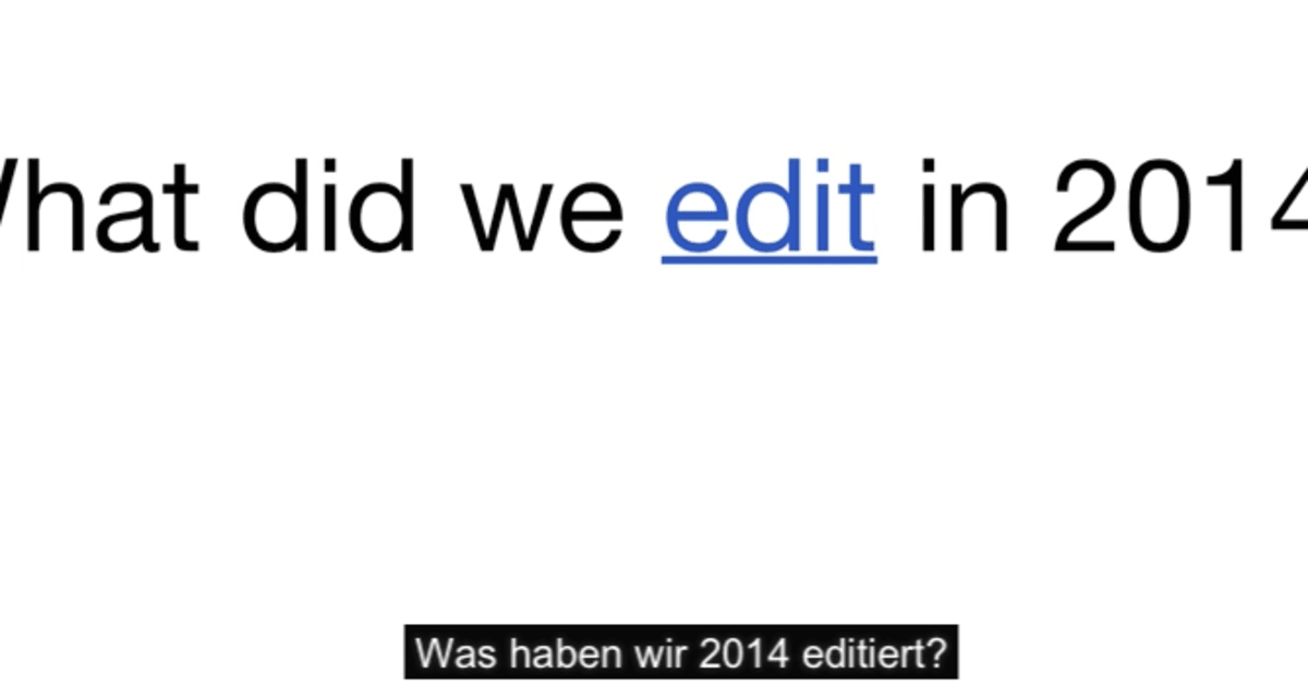 Video: Der Wikipedia-Jahresrückblick
