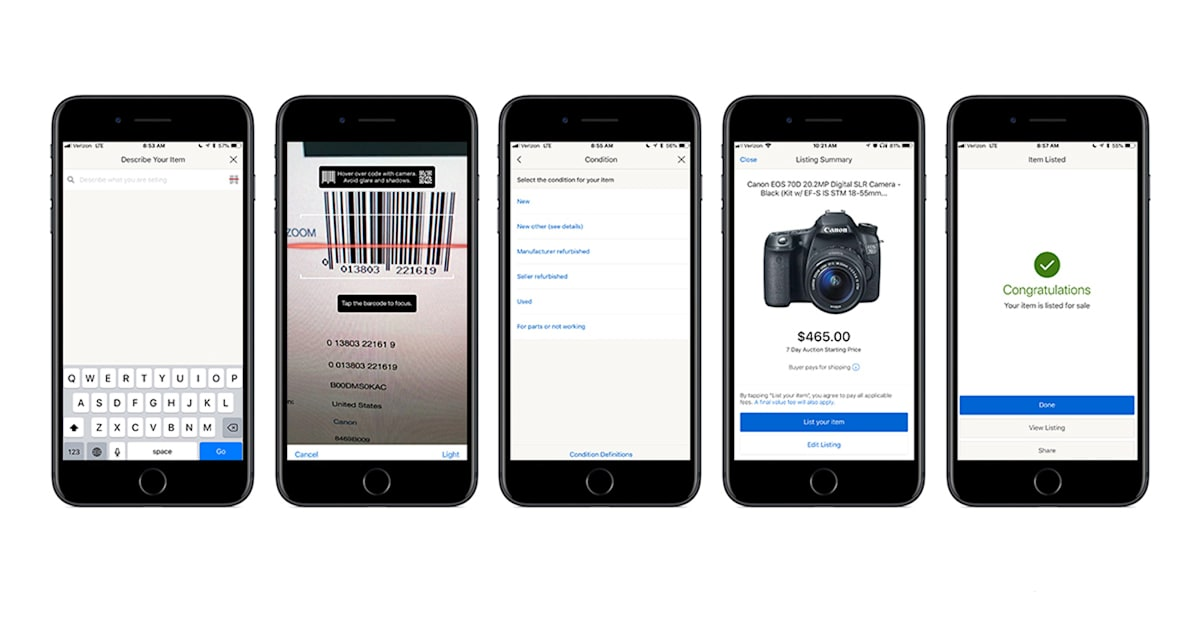 100ce5fa78a Techmeme  eBay updates its apps to let sellers scan barcodes to autofill  some product information (Jon Fingas Engadget)