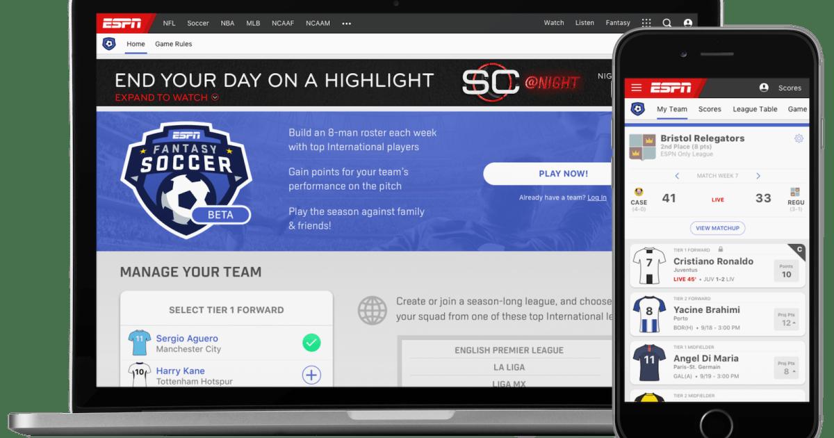 ESPN is testing a global fantasy soccer game