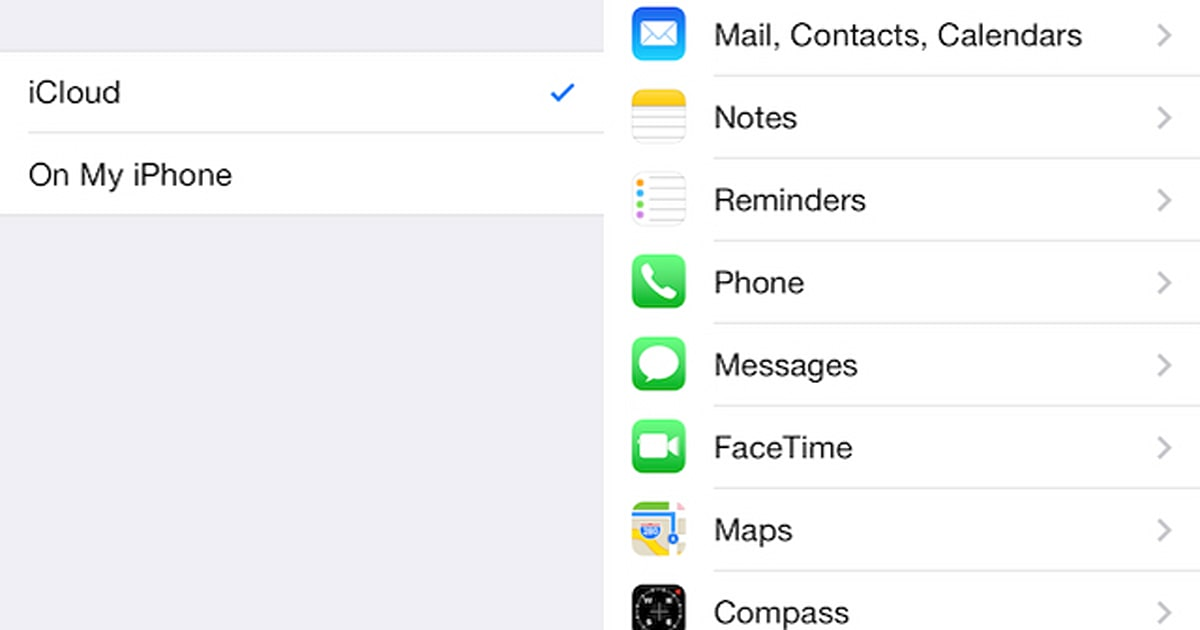Here's a fix for disappearing contacts in iOS 7 1 2