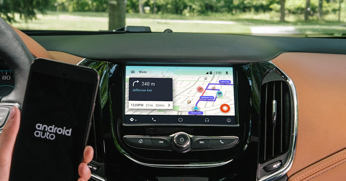 waze joins google maps on android auto. Black Bedroom Furniture Sets. Home Design Ideas