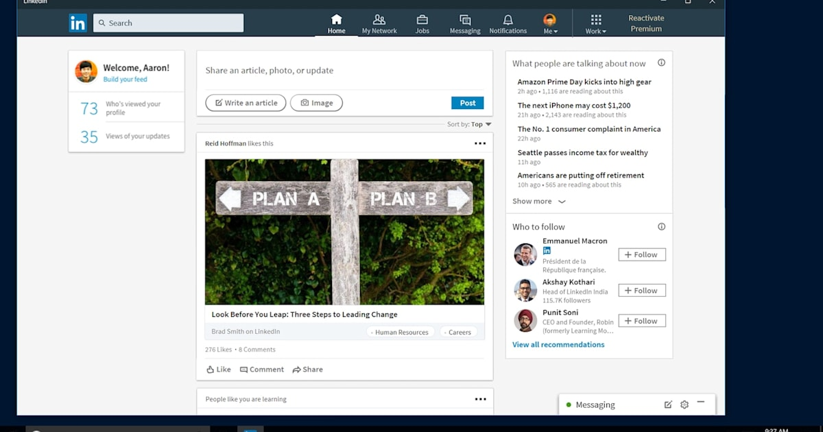 LinkedIn's incessant connection requests are coming to Windows 10