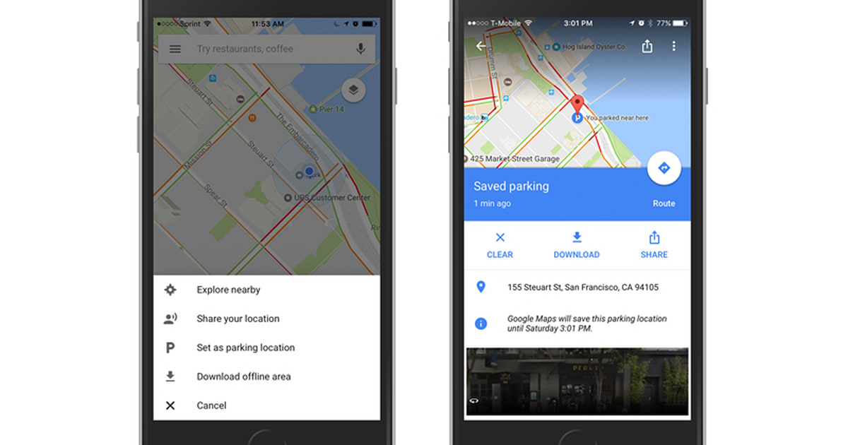 Google Maps can remember where you parked on Android and iOS on google maps for desktop, google maps camera, google play for iphone, google maps classic, microsoft maps for iphone, google maps on iphone 5, google earth for iphone, google maps ipad, google maps for phones, google wallet for iphone, google maps for alcatel, google maps for kindle fire, google maps for apple watch, google maps app, google maps for windows 8, google maps for tablet, google maps smartphone, google maps cell phone, google maps for mobile, google maps android,