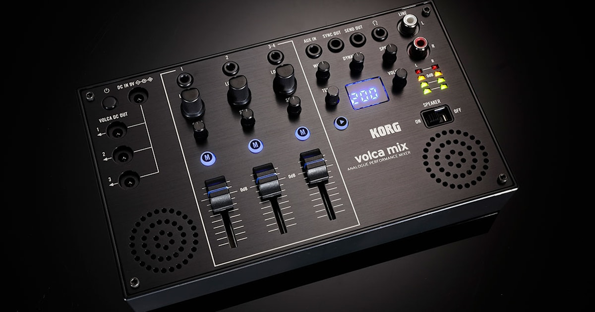 Korg finally has a mixer to link up those tiny Volca synths