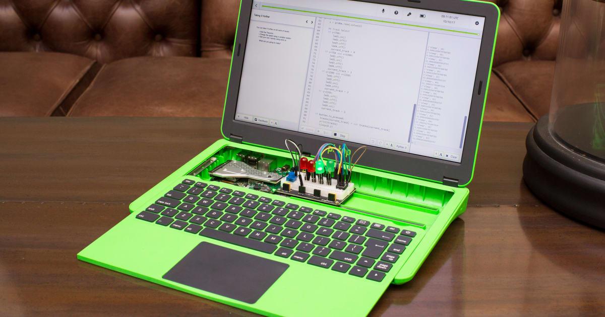 Raspberry Pi laptop teaches code with modular innards