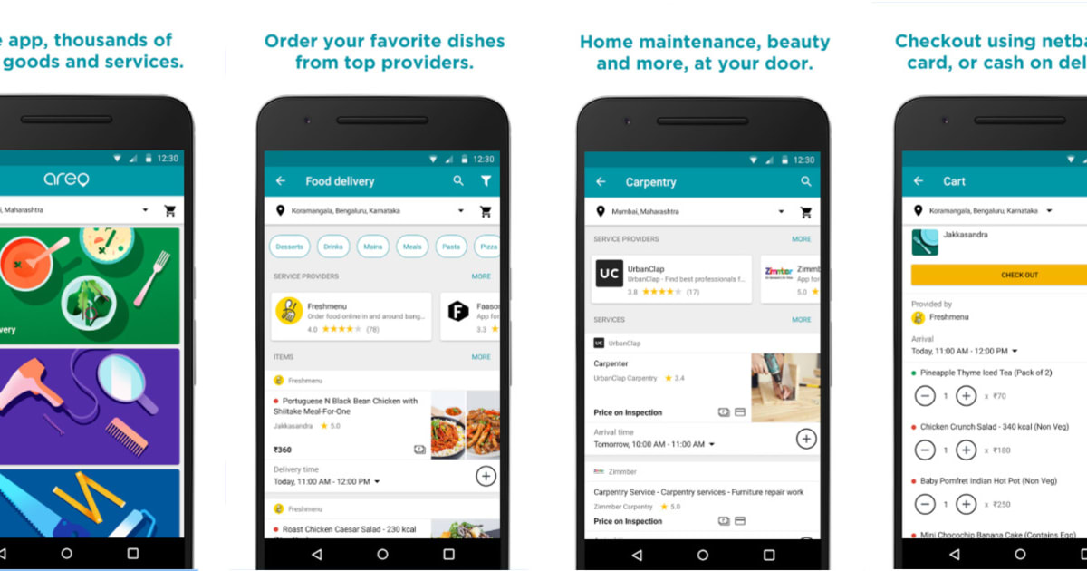 Google's Areo app can order a plate of food or a plumber