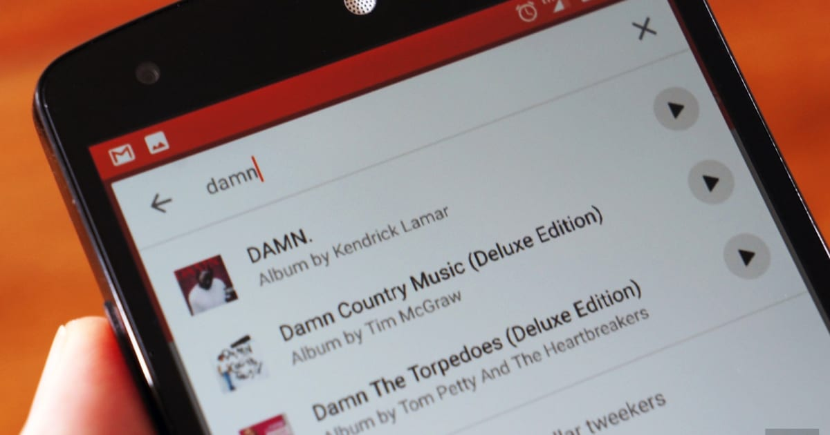 Listen to tunes in Google Play Music's search results