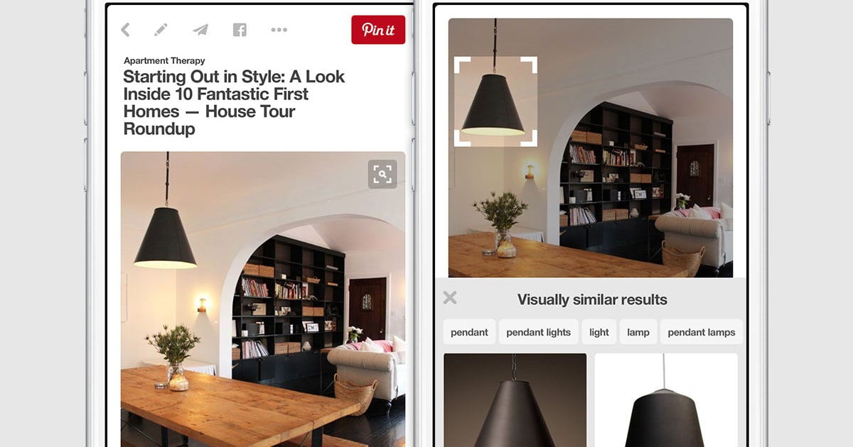 fdb769c5bfa Pinterest s visual search tool can identify items in a pin