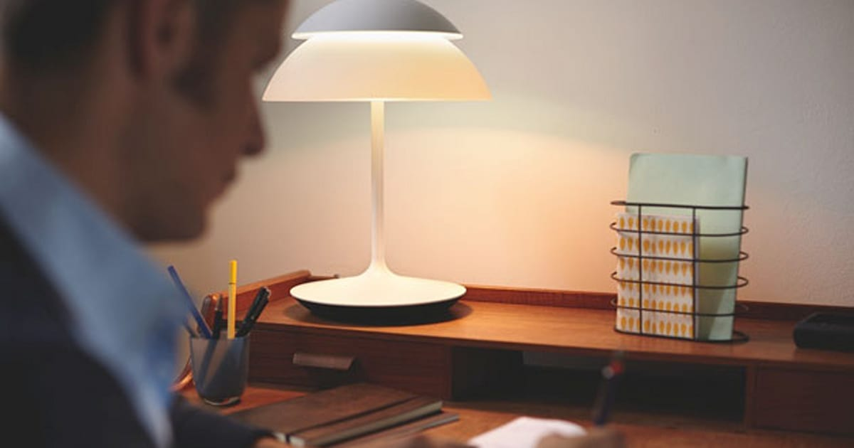 philips 39 hue beyond brings smart lighting to lamps and table lights. Black Bedroom Furniture Sets. Home Design Ideas