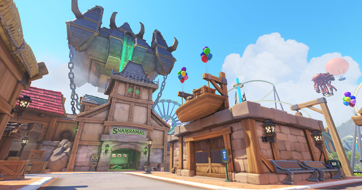 Last Week The Overwatch Team Released A New Map Blizzard World Multiplayer Arena Is Colorful Amut Park Filled With Attractions And Rides
