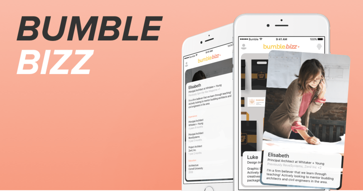 dating app bumble launches bizz for professional networking. Black Bedroom Furniture Sets. Home Design Ideas