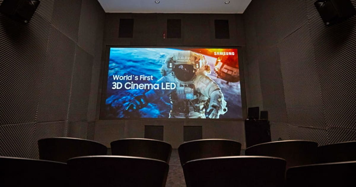 Samsung created a 3D version of its 34-foot cinema LED screen