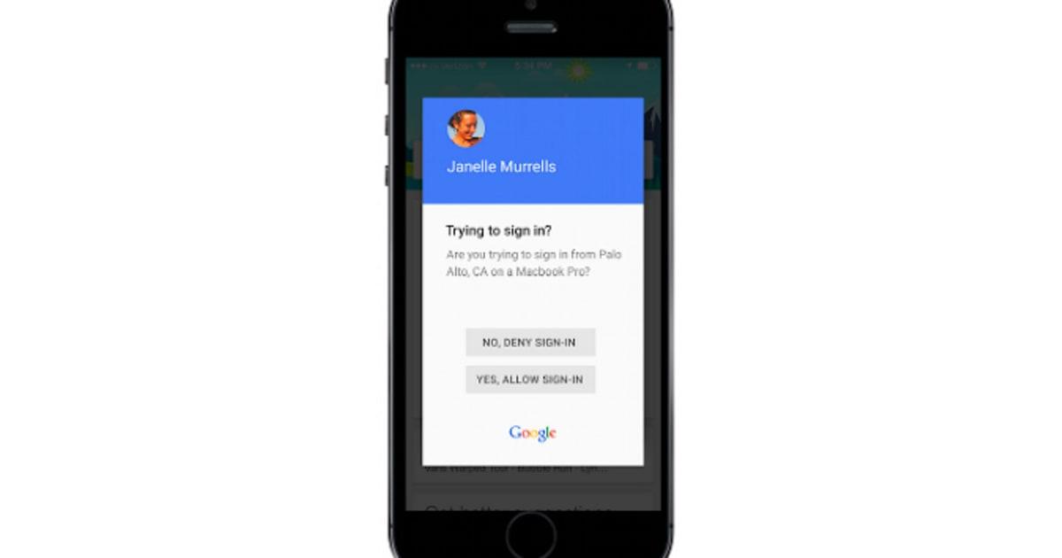 Google Improves Two Step Verification On Phones