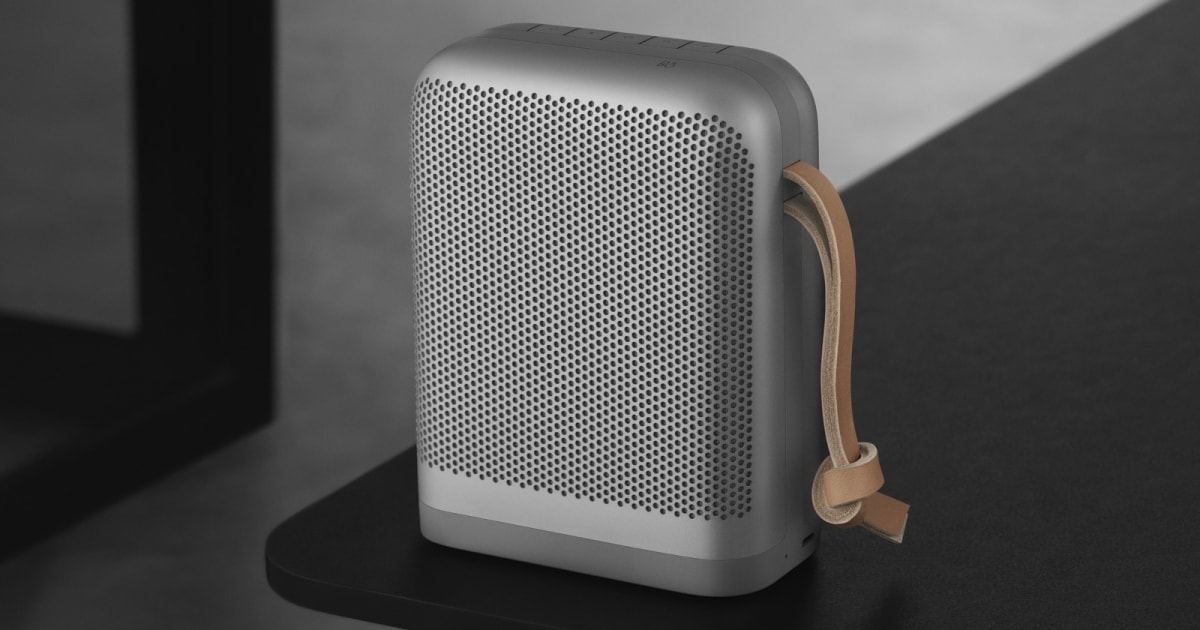 b o 39 s beoplay p6 speaker blasts your summer playlists in. Black Bedroom Furniture Sets. Home Design Ideas