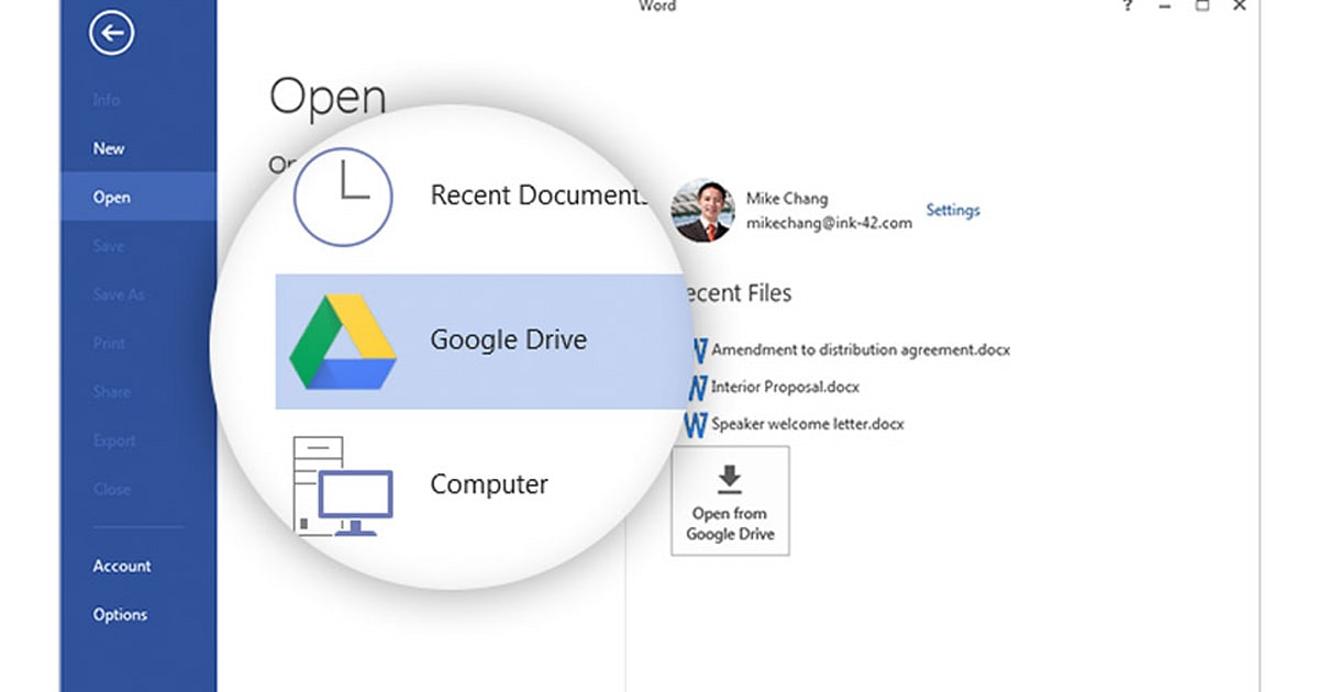 how to share excel file in google drive