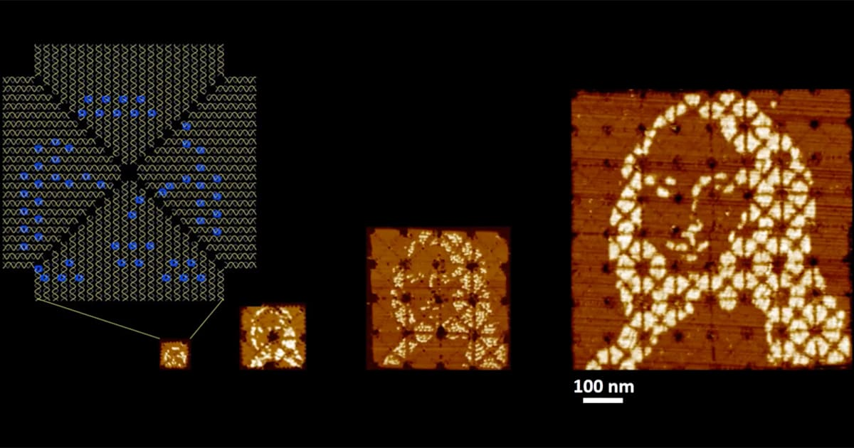 The World's Smallest Mona Lisa is Made from DNA