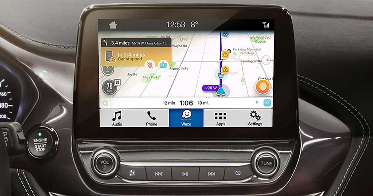 waze 39 s traffic data is available in ford sync 3 cars. Black Bedroom Furniture Sets. Home Design Ideas