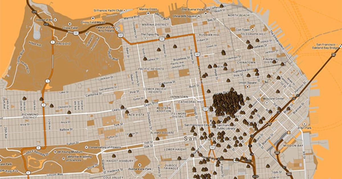 San Francisco S Public Defecation Map Highlights A Shitty