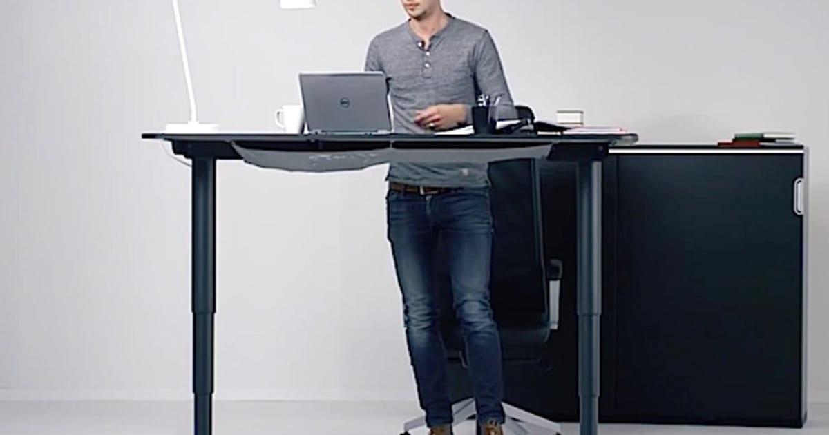 IKEA Bekant Tisch Mit Ergonomischem Stehautomatismus