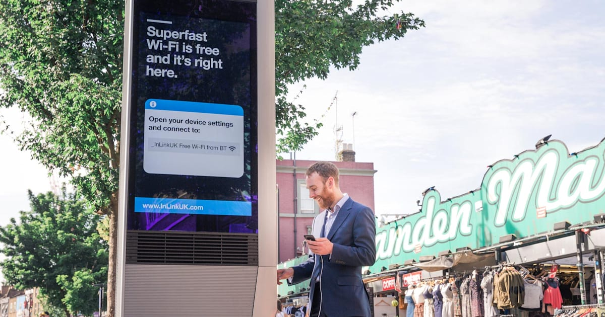 London is the Second City to Get Free Gigabit WiFi Kiosks
