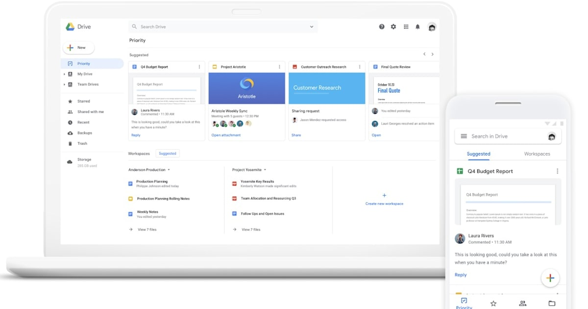 Google Drive 'Priority' AI Monitors your Team to Surface the Right Files