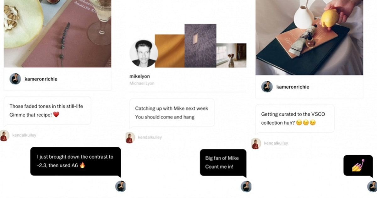 Photo app VSCO introduces a private messaging feature