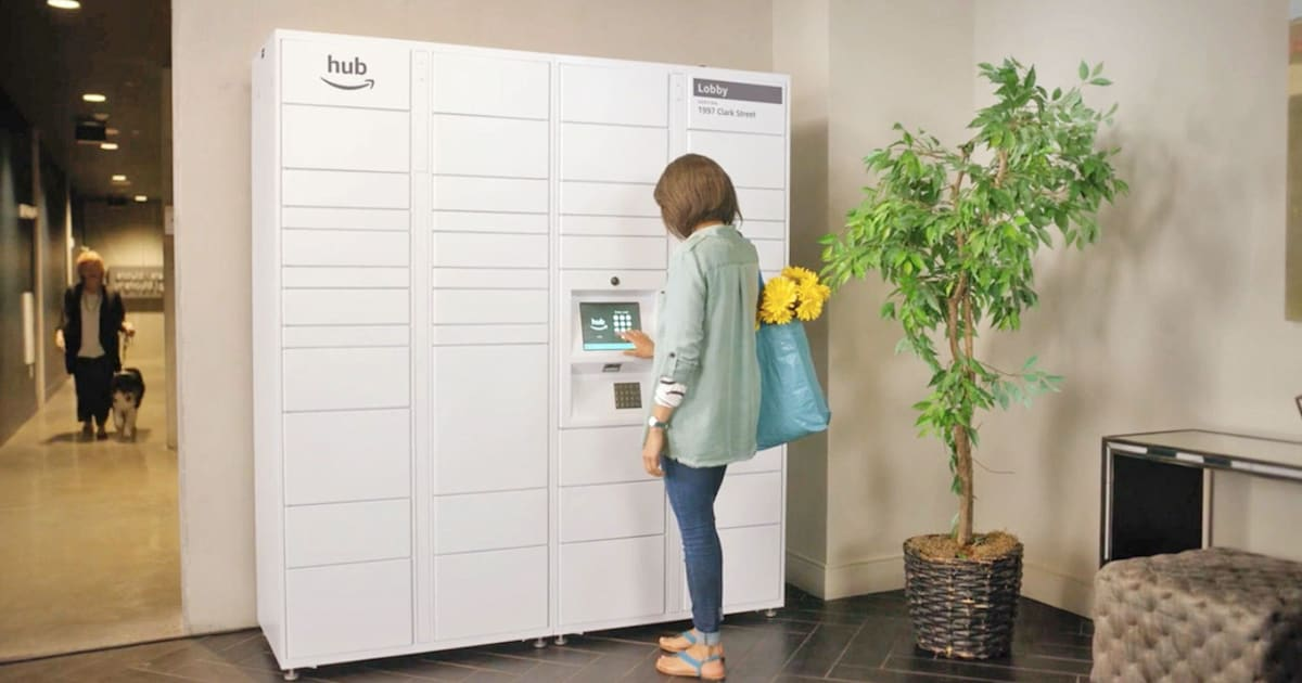 Amazon S The Hub Is A Delivery Locker For Residential