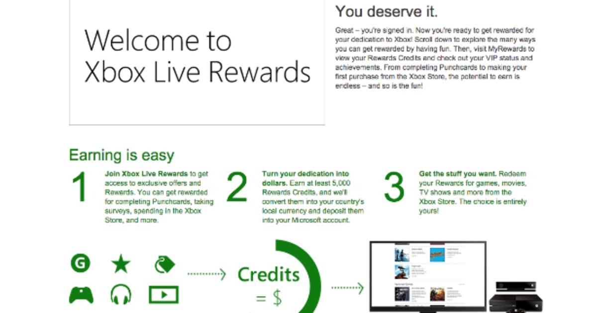 Xbox Rewards Redeem