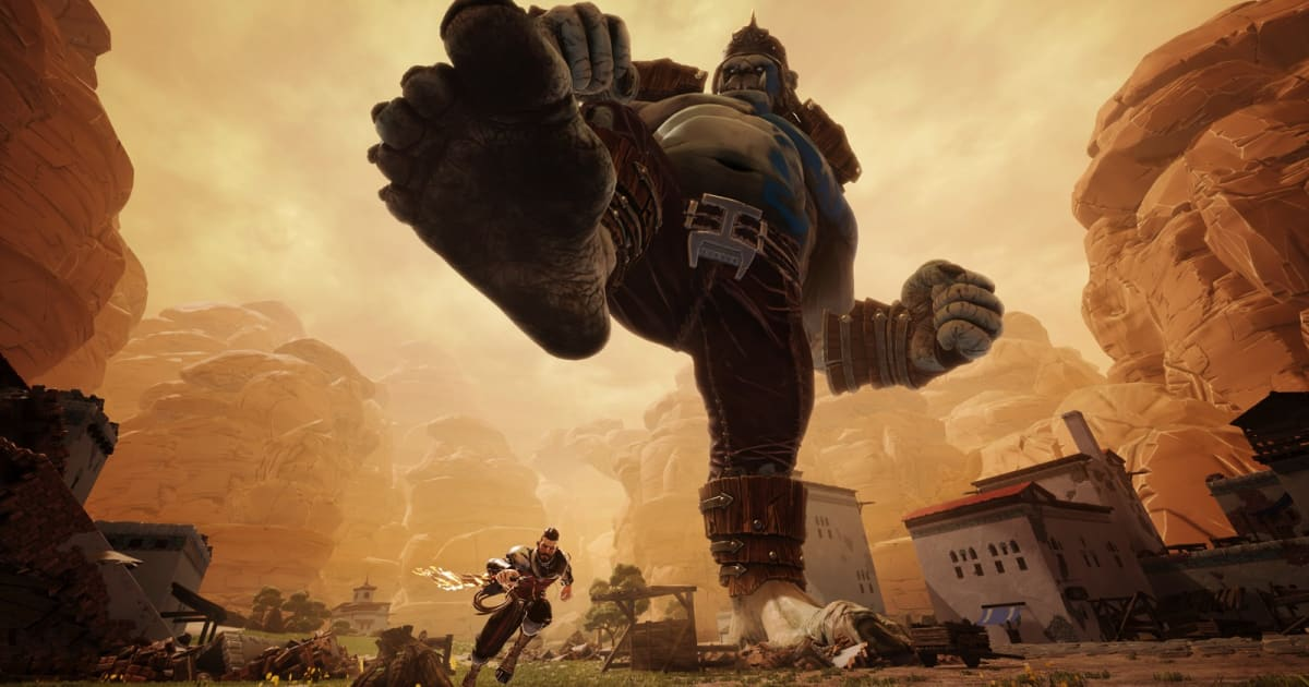 Save Cities from Massive Ogres in 'Extinction'