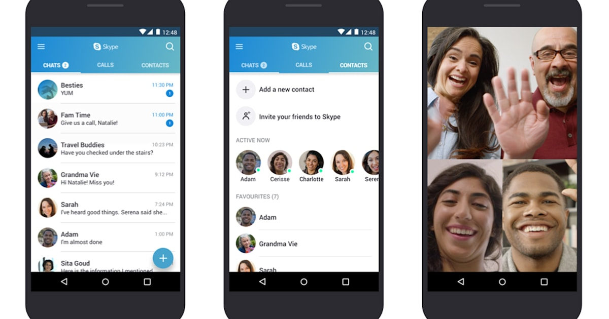 Skype is now optimized for lower-end Android phones