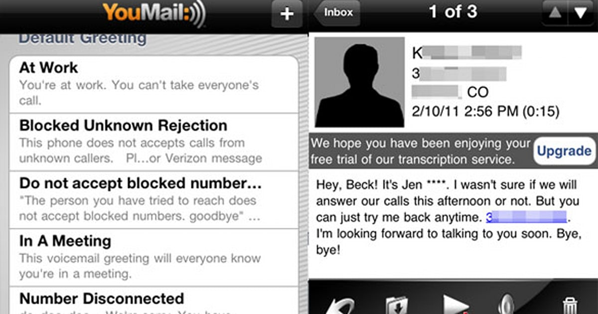 Youmail provides an option to google voice for your voicemail needs m4hsunfo