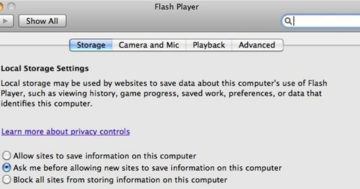 Flash Player for Mac updated to 10 3, adds preference pane
