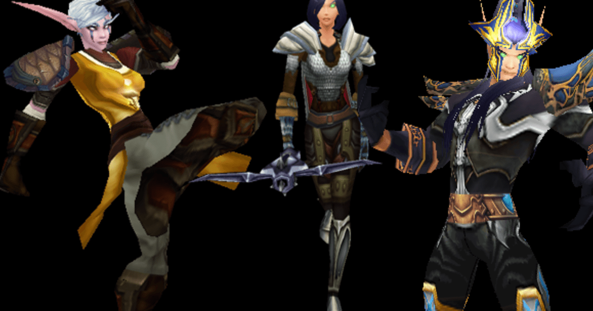 Diablo 3 Transmog Outfits for WoW: Monk, demon hunter, wizard
