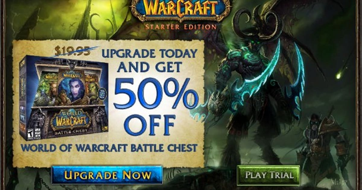 World of warcraft starter edition download.