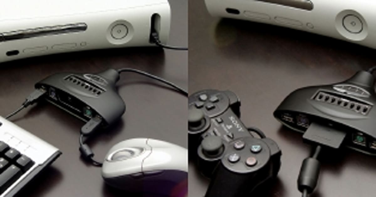 Connect your PS2 controllers to your Xbox 360