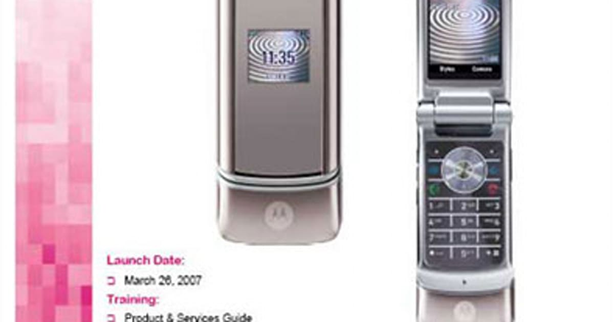motorola krzr k1 landing on t mobile in march. Black Bedroom Furniture Sets. Home Design Ideas