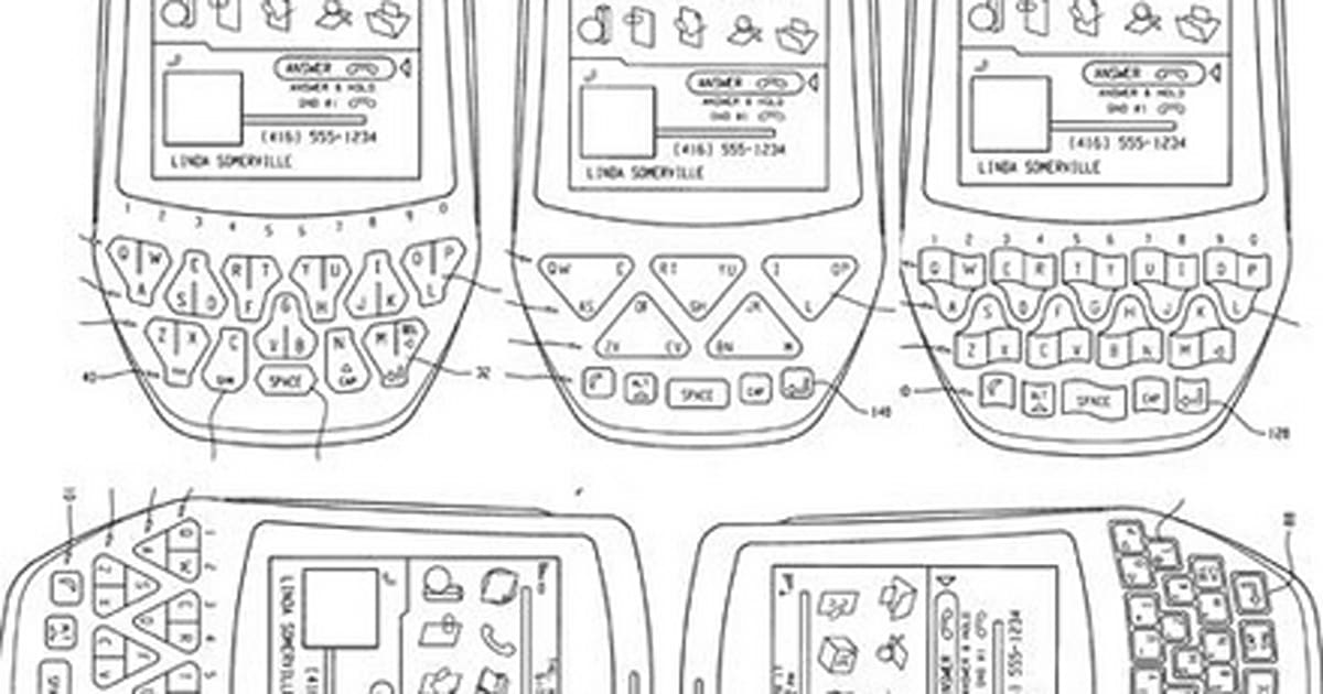 RIM applies for triangular keyboard layout patent