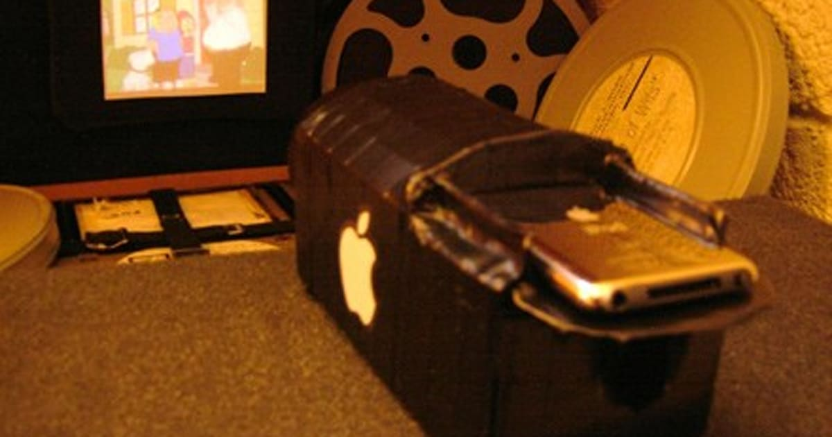 Diy ipod video projector boosts utility for Ipod projector