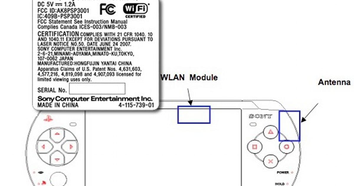 Unspectacular PSP-3001 outed by the FCC