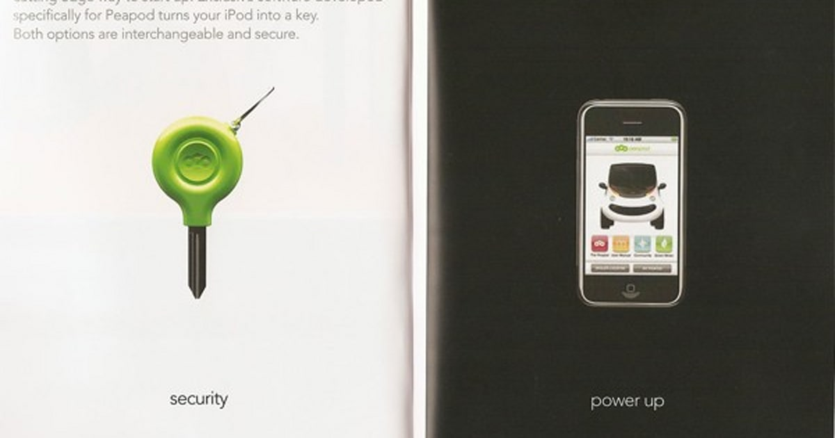 Chryslers Peapod Ev Lets Ipod Double As Ignition Key
