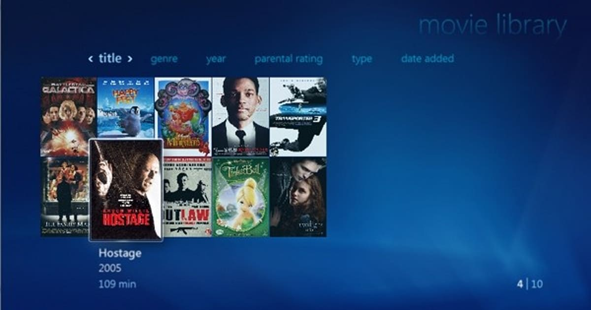 How to import HD movies into Windows Media Center
