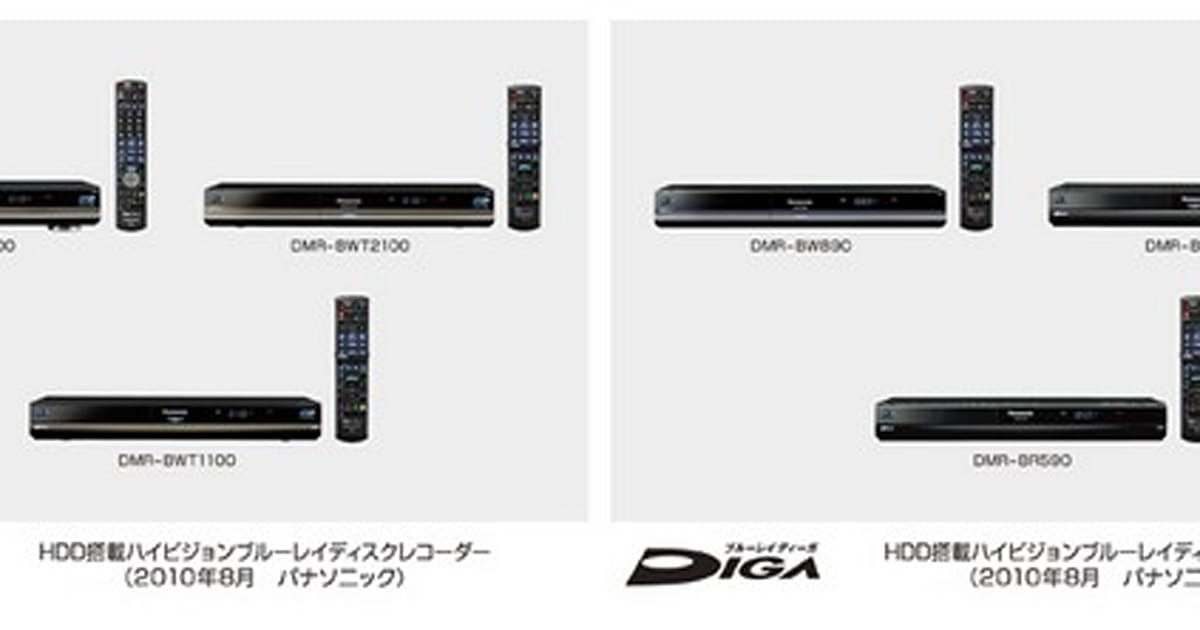 Panasonic launches six new BDXL-compatible DVRs, the media you'll