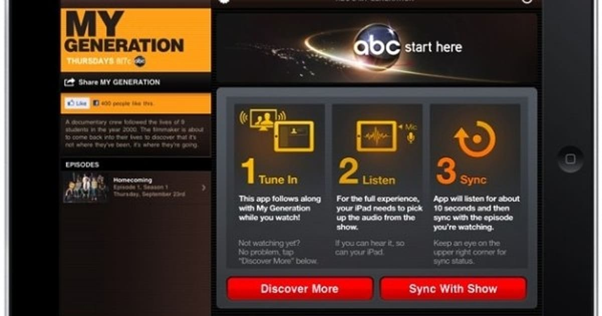 ABC app eavesdrops on your TV to synchronize interactive content