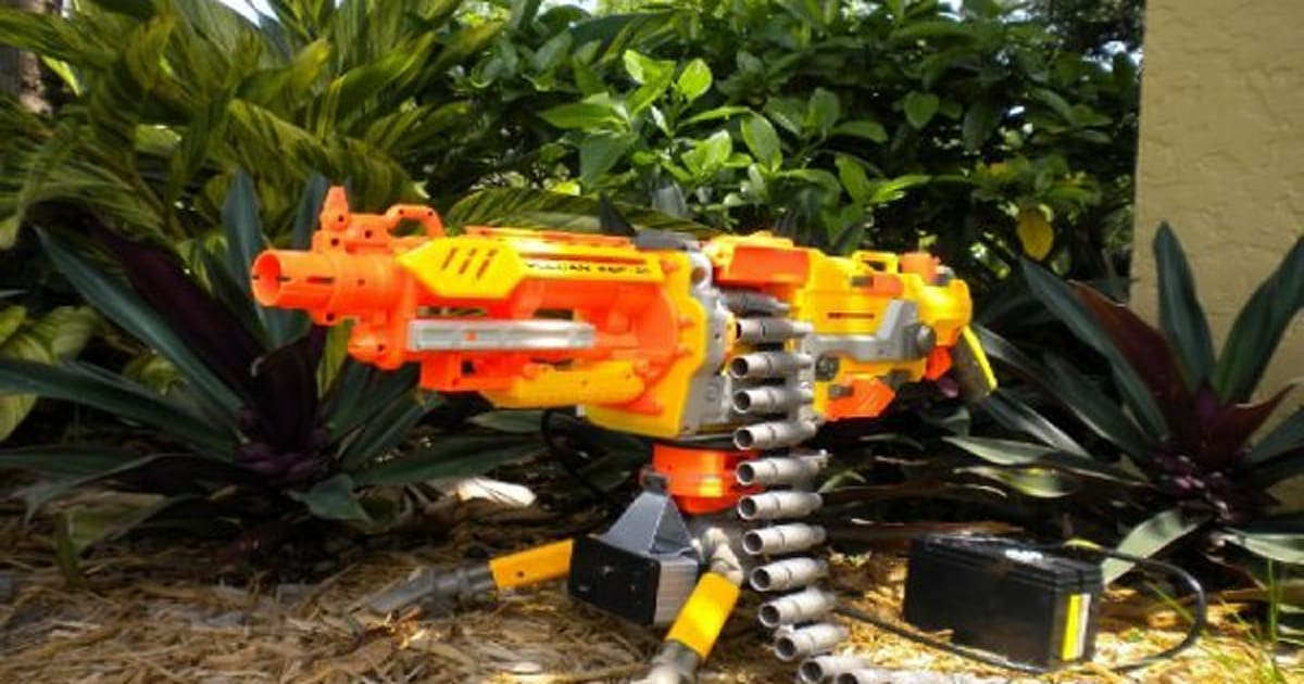 projectile motion nerf gun