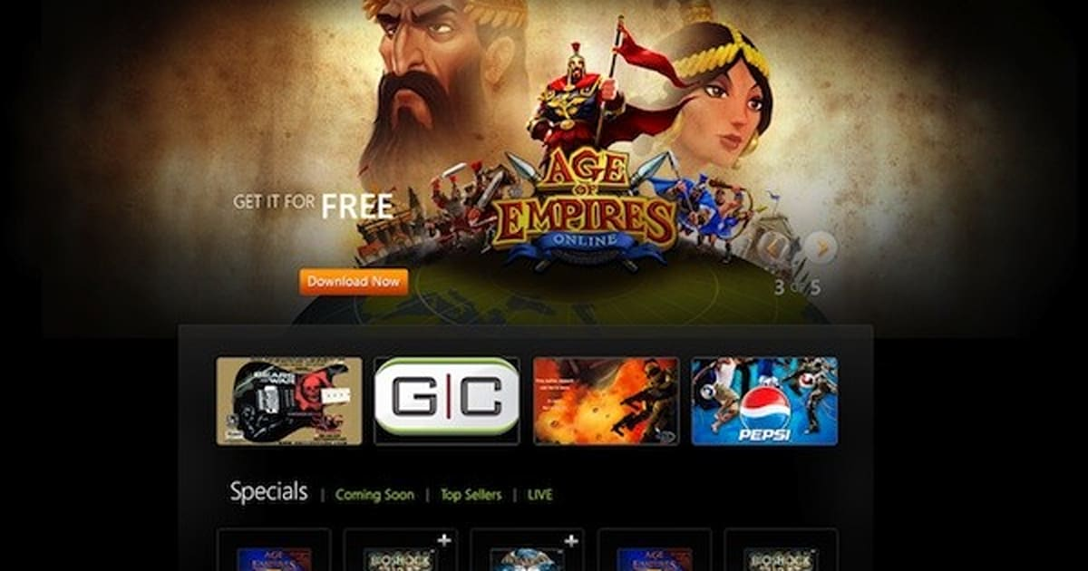 Microsoft games for windows marketplace relaunches in your browser.