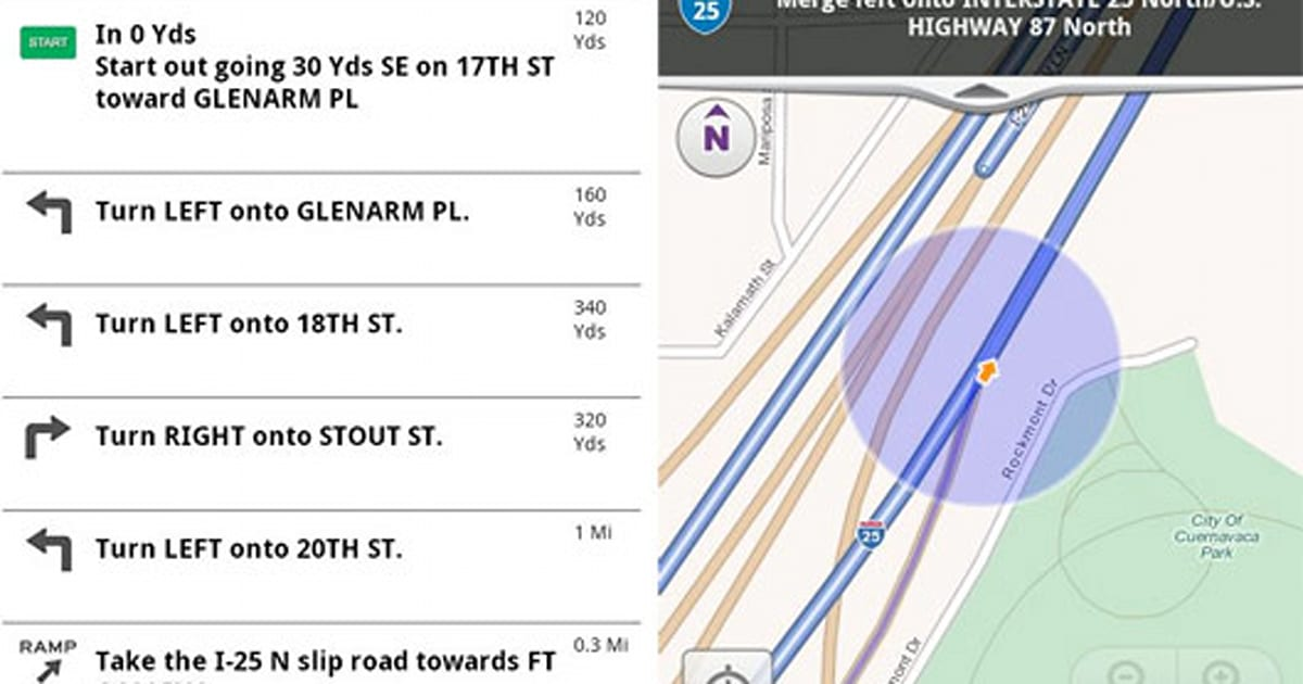 Get Driving Directions Live Traffic Road Conditions Mapquest >> Mapquest For Android Brings Free Turn By Turn Navigation