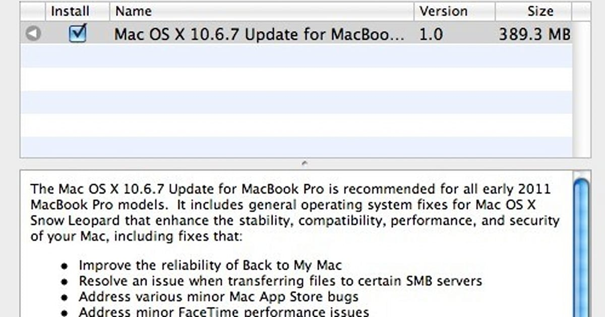 Apple releases OS X 10 6 7 with fix for MacBook Pro display