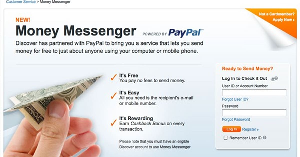 Discover Cardholders Can Send Money To Anyone With A Cell Phone Email Address
