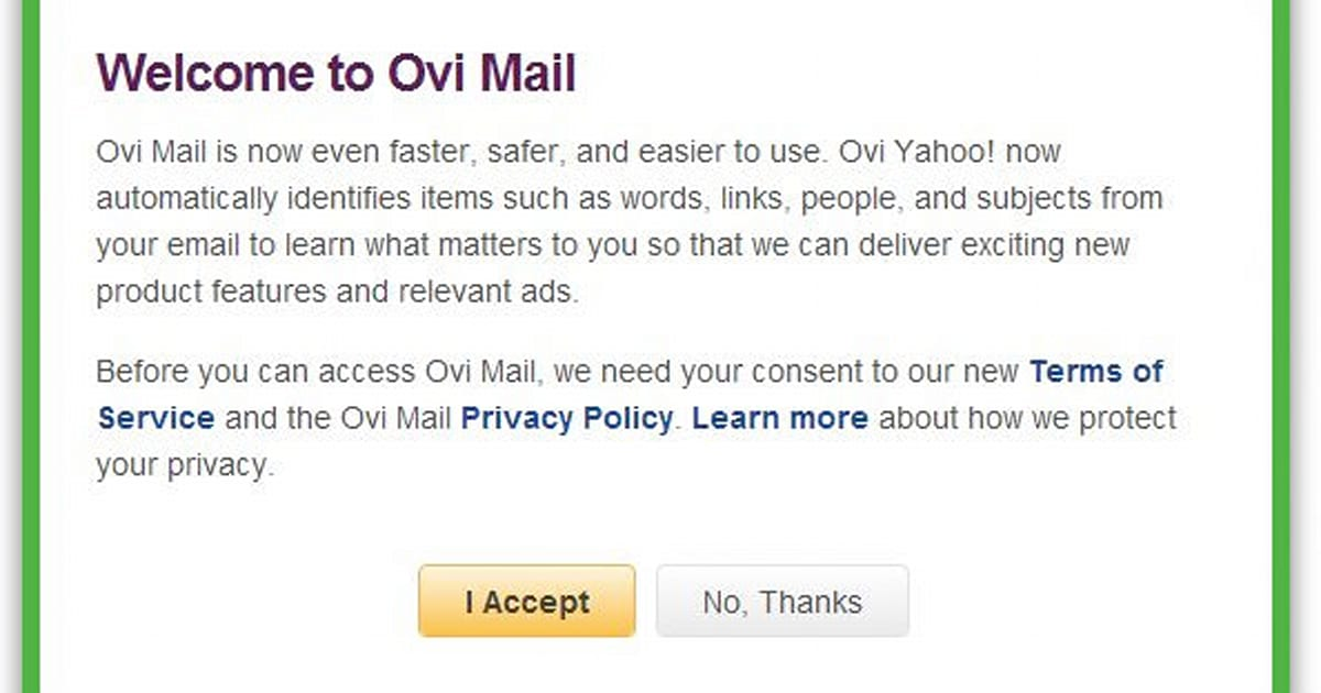 Nokias Ovi Mail relocates to Yahoo, takes the scenic