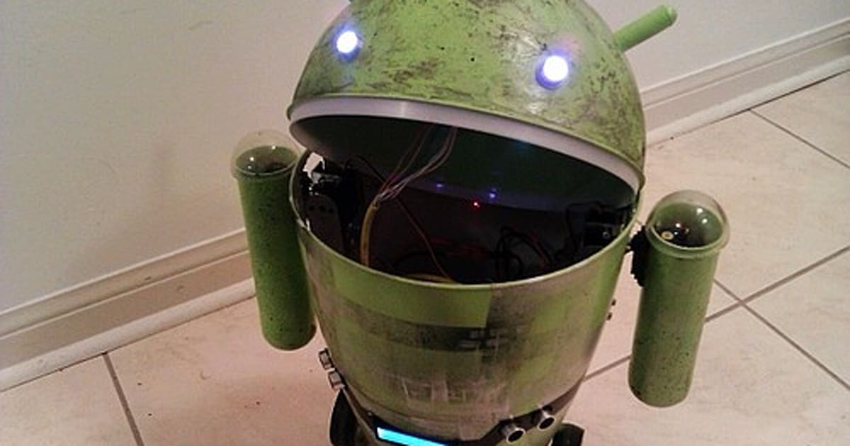 Android trash can robot begs the question why are you